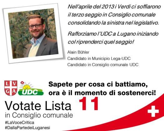 Vota UDC - Vota Lista 11 a Lugano